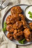 Крыла цыпленка барбекю бескостные стоковые изображения rf