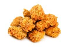Крыла цыпленка в обваливать в сухарях стоковые фото