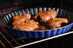 крыла цыпленка пряные Стоковые Фотографии RF