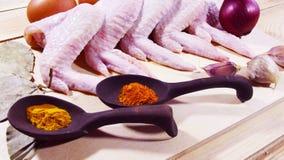 крыла цыпленка свежие Стоковое Изображение RF