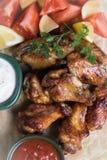 Крыла цыпленка стиля Техаса Стоковая Фотография
