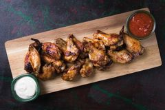 Крыла цыпленка стиля Техаса Стоковая Фотография RF