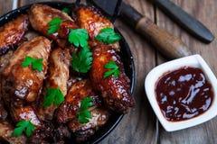 Крыла цыпленка стиля Bufalo Стоковые Изображения