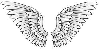 крыла Иллюстрация штока
