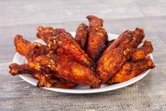Крыла BBQ цыпленка Стоковое Изображение RF