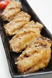крыла fry цыпленка Стоковая Фотография
