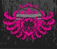 крыла grunge знамени Стоковое Фото