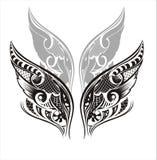 крыла tattoo конструкции Стоковая Фотография RF