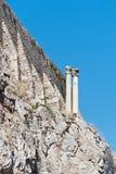 Крылечко акрополя кариатид Афин в Греции стоковые фото