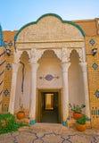Крылечко старого особняка, Yazd, Ирана стоковое изображение