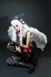 крыло девушки ангела Стоковые Изображения RF