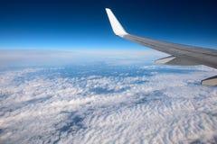 Крыло космического летательного аппарата многоразового использования на очень большой возвышенности Стоковое Фото