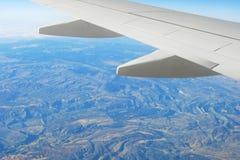 крыло ландшафта самолета Стоковое Изображение