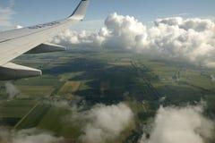 крыло неба плоскости двигателя Стоковые Фотографии RF