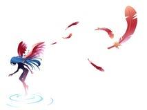 Крыло пера ангела Стоковые Изображения RF
