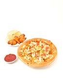 крыло пиццы цыпленка Стоковая Фотография