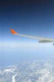 крыло плоскости двигателя Стоковое Фото