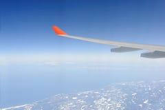 крыло плоскости двигателя Стоковая Фотография