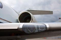 Крыло с светами и двигателем Стоковые Фото