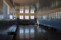 Крыло тюрьмы Нельсон Mandel, остров Robben, Кейптаун, Южная Африка стоковые фото