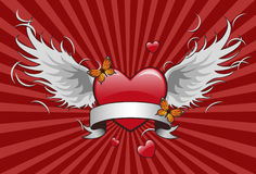 крыло формы сердца бесплатная иллюстрация