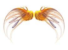 крыло фрактали установленное бесплатная иллюстрация