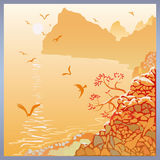 Крымский ландшафт моря Стоковые Фотографии RF