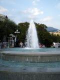 Крымский фонтан с людьми Стоковая Фотография