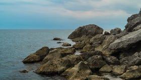 Крымский seascape на ясный день Стоковые Изображения