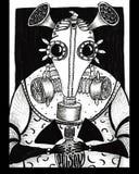 Крыса в маске противогаза и отраве Стоковое Изображение