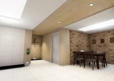 Крытая жилая комната Стоковое Изображение