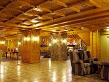 крытая роскошь светов деревянная Стоковое Изображение RF