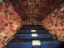 Крытая сауна соли - освещенное красочное стоковая фотография rf