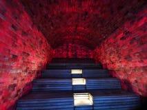 Крытая сауна соли - освещенное красочное стоковое изображение rf