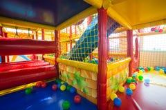 Крытая спортивная площадка для детей Стоковое Фото