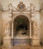 Крытое визирование в ` Este виллы d, Tivoli, Лацие, центральной Италии Стоковое Изображение