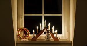 Крытое украшение дома рождества Стоковые Фотографии RF
