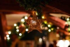 Крытое украшение дома рождества Стоковая Фотография RF