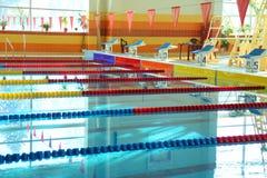 Крытый бассейн. Никто Стоковые Фотографии RF