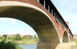 крытый мост в городе Павии в Италии Стоковая Фотография RF