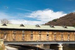 Крытый мост в Lovech на 06 03 2017 Стоковое Изображение