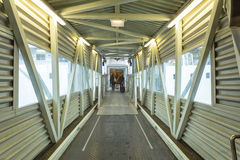 Крытый мост на пароме Стоковая Фотография RF