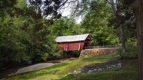 Крытый мост Campbell в Южной Каролине Стоковое Фото