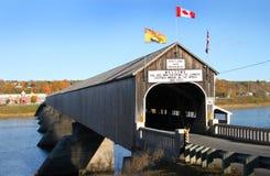 Крытый мост Hartland деревянный Стоковое Изображение