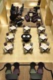 крытый нутряной самомоднейший ресторан Стоковое Фото