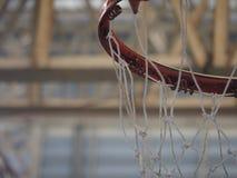 Крытый обруч баскетбола стоковая фотография rf