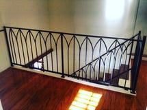 Крытый рельс лестницы Стоковая Фотография