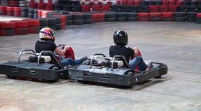 Крытый karting Стоковые Фотографии RF