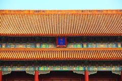 Крыть черепицей черепицей крыши Forbidden City Стоковая Фотография