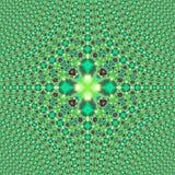 Крыть черепицей черепицей печать зеленого цвета фрактали Стоковое Фото